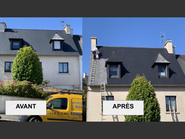 Nettoyage toiture et ravelement maison brest - peinture moderne