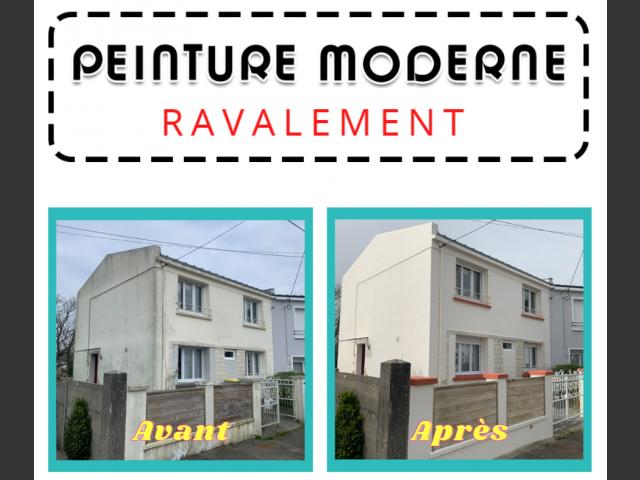 Peinture moderne brest nettoyage de facade et ravalement brest métropole