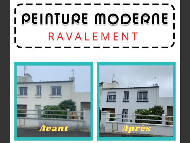Peinture moderne - ravalement maison sur brest