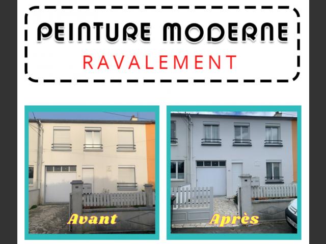 Peinture moderne ravalement maison brest métropole