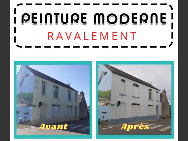 Peinture moderne - ravalement maison guipavas