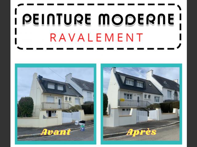 Peinture moderne - ravalement brest maison
