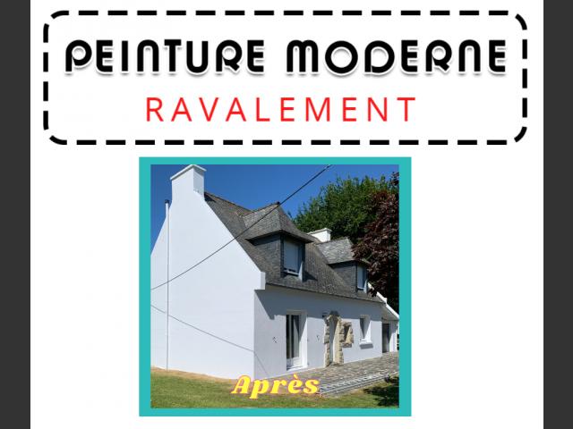 Peinture moderne - ravalement maison saint renan